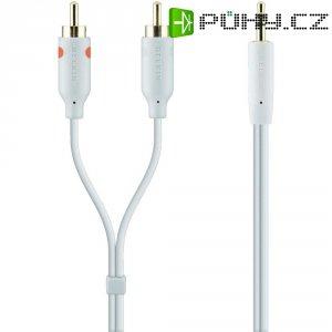 Připojovací kabel Belkin, jack zástr. 3.5 mm/cinch zástr. 3.5 mm, bílý, 2 m