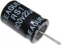 22u/400V 105° 13x20x5mm, elektrolyt.kondenzátor radiální