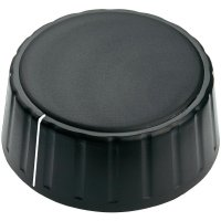 Otočný knoflík Mentor 4335.6001, 6 mm, matně černá