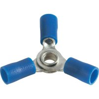 Křížové oko Průměr otvoru=4 mm částečná izolace modrá Vogt Verbindungstechnik 3631a3 1 ks
