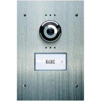 Venkovní jednotka pro domácí videotelefon m-e VDV-910, 1 rodina, nerez