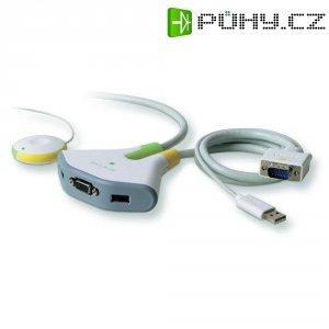 Přepínač se 2 porty Belkin KVM, 2 portový, USB s dálkovým ovládáním