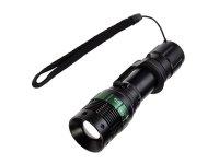 "Svítilna LED (3W) ""CREE"" (3xAAA) kov, fokus, černá WL09"
