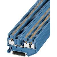 Svorka Push In Phoenix Contact PIT 2,5-TWIN BU (3209552), 3násobná, 5,2 mm, modrá