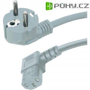 Síťový kabel s IEC zásuvkou HAWA 1008237, 2 m, šedá