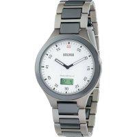 Ručičkové náramkové DCF hodinky Eurochron 400 CT, titanový pásek, stříbrná