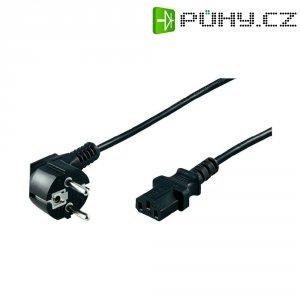 Síťový kabel s IEC zásuvkou, 5 m, černá