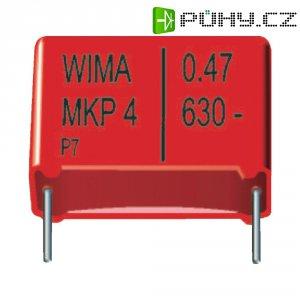 Foliový kondenzátor MKP Wima, 0,22 µF, 630 V, 20 %, 26,5 x 7 x 16,5 mm