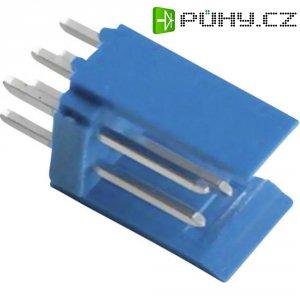 Kolíková lišta HE14 TE Connectivity 281739-6, přímá, 2,54 mm, 3 A, modrá