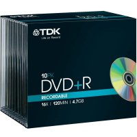TDK DVD+R 4,7GB 16X 10 ks JEWELCASE