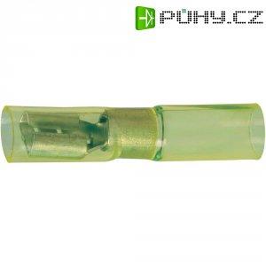Faston zásuvka se smršťovací bužírkou DSG Canusa 7934300102, 6.3 mm x 0.8 mm, žlutá, 1 ks