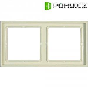 Krycí rámeček Jung, LS982W, dvojnásobný, krémově bílá