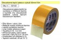 Lepící páska oboustranná vyztužená 50mmx10m