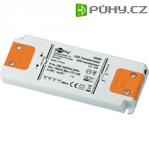 Vestavný LED driver Goobay SET CC 700-12 LED, 12 W (max), 0.7 A, 0 - 17 V/DC