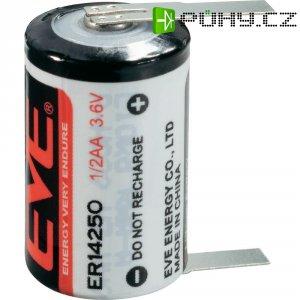 Lithiová baterie Eve, typ 1/2 AA, s kolmými pájecími hroty