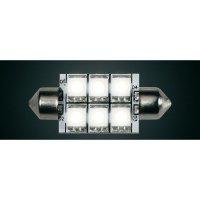 LED žárovka Diodor, Soffitte 37mm, 1,3 W, 30 V, stmívatelná, teplá bílá