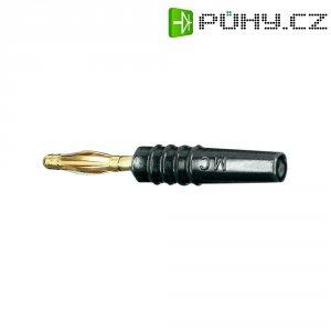 Lamelový konektor Ø 2 mm MultiContact 22.2618-21, zástrčka rovná, černá