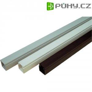 Elektroinstalační lišta s krytem OBO Bettermann, 6189393, 15 x 15 mm, 2 m, šedá