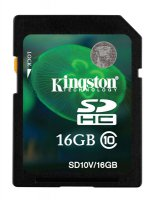 Paměťová karta SDHC 16GB KINGSTON CL10 SD10V