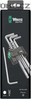 Sada imbusových klíčů s kulovou hlavou Wera 05073391001, 1,5 - 10 mm, 9 ks