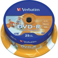 Verbatim DVD-R 4,7GB 16X 25 ksSP PRINT