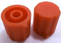 Přístrojový knoflík KP1404, 14x15mm, hřídel 4mm, oranžový