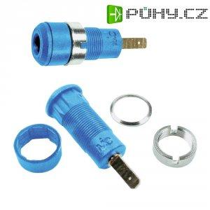 Laboratorní konektor Ø 2 mm MultiContact 65.9098-23, zásuvka vestavná vertikální, modrá