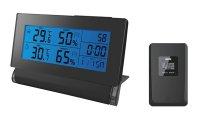 Meteostanice TE30 teplota, vlhkost, RCC, kryt na displej, černá