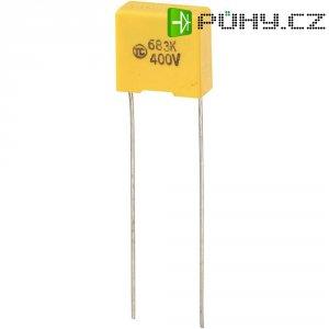 Foliový kondenzátor MKS, 0,068 µF, 400 V, 5 %, 13 x 6 x 12 mm