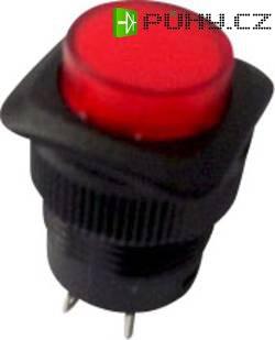Tlačítkový spínač R13-508BL-05 červený