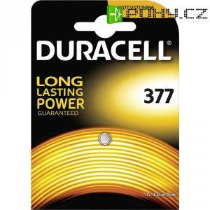 Knoflíková baterie 377, na bázi oxidu stříbra, Duracell 377, DUR062986