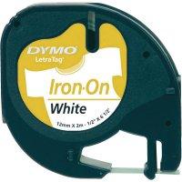 Páska do štítkovače DYMO 18768 (S0718840), 12 mm, LT LetraTAG, 2 m, černá/bílá