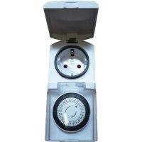 Spínací zásuvka s časovačem GAO, 3680 W, IP44, analogové, denní