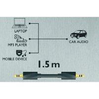 Připojovací kabel, Sound & Image, jack zástr. 3.5 mm /jack zástr. 3.5 mm, 1,5 m