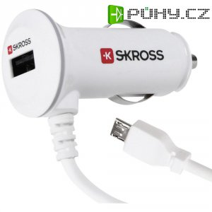 USB nabíječka do autozásuvky Skross, 2.900613, 12 V ⇔ 5 V, 2,1 A