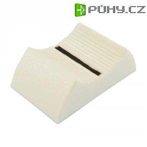 Knoflík na posuvný potenciometr Cliff CP33650, CS9, 4 mm, bílá