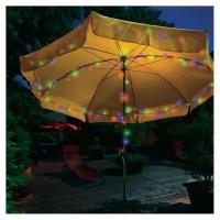 Solární zahradní LED řetěz Esotec, 100 LED, 12 m, barevná