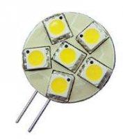 Žárovka LED G4 6xSMD5050, teplá bílá, 12V/1,2W