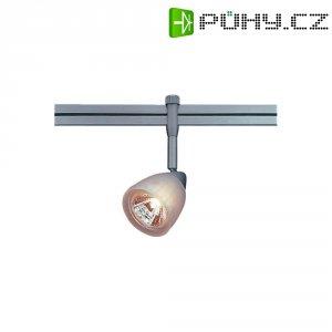 Lištové halogenové LED svítidlo SLV Stratos, 12 V, 50 W, GU5.3, stříbrná/bílá