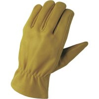 Pracovní rukavice z usně FerdyF., velikost L (9), hnědá