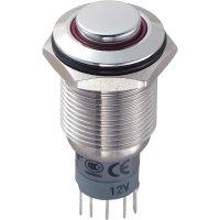 Tlačítkový spínač antivandal TRU Components LAS2GQH-11ZE/R/12V/S/P, 250 V/AC, 3 A, 1 ks