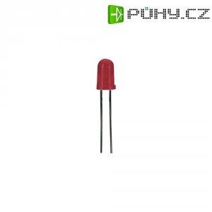 LED dioda kulatá s vývody L 53 SRC/E, L-53 SRC/E, 20 mA, 5 mm, 1,85 V, 35 °, 3000 mcd, červe