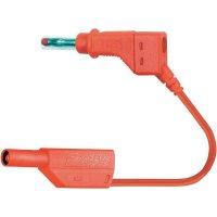 Měřicí kabel banánek 4 mm ⇔ banánek 4 mm MultiContact XZG425-E, 2 m, červená