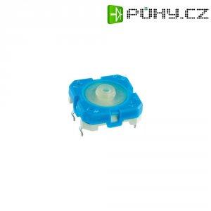 Tlačítko s pájecími kontakty Rafi, 114001502, 42 V DC/AC, 0,1 A, vyp./(zap.), modrá