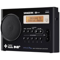 DAB+ rádio Sangean DPR-69+, FM, aku, černá