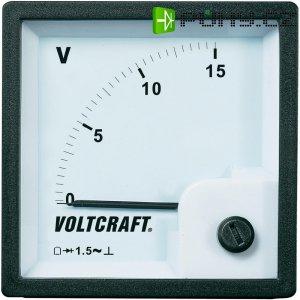 Analogové panelové měřidlo VOLTCRAFT V-72x72/15V 15 V