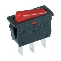 Kolébkový spínač Marquardt 1830.3112, 1x vyp/zap, 250 V/AC, 6 A, červená/černá
