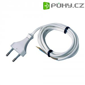 Síťový kabel, euro zástrčka/otevřený konec, 0,75 mm², 1,5 m, bílá