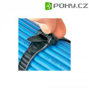 Stahovací rozepínací elastickýpásek Panduit ERT4.5M-C20, 406 x 12,7 mm, černá