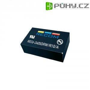 DC/DC měnič Recom REC6-1212SRW/R10/A, vstup 9-18 V/DC, výstup 12 V/DC, 500 mA